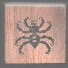 Black Widow Spider Halloween rubber stamp