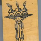 Kachina Indian Doll Rubber Stamp Life Bringer