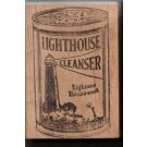 Lighthouse Cleanser rubber stamp light house advertizing