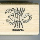 Scorpio Zodiac Sign Rubber Stamp 1960's Oct 23-Nov 21