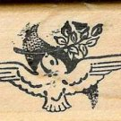 Dove with  Olive Branch rubber stamp Peace