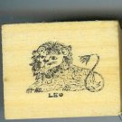 Leo Zodiac Sign Rubber Stamp 1960's July 23-Aug 22 Lion