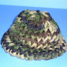 Camouflage Knit Cap Hat Sock Monkey/doll NEW Handmade