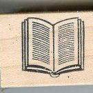 Open Book  Rubber Stamp for those who are ??