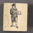 Artist old master style medieval with artist pallet rubber stamp