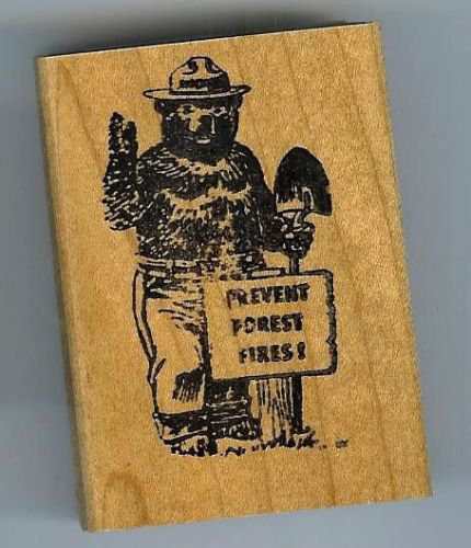 Smokey bear  Rubber Stamp Prevent Forest Fires