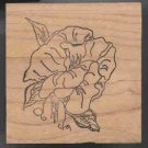 Sweet Pea flower large  rubber stamp artist signed handle