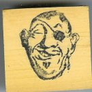 Pirate Head aye matey  Comic Rubber stamp