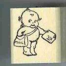 Kewpie mailman  rubber stamp