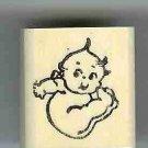 Kewpie falling rubber stamp