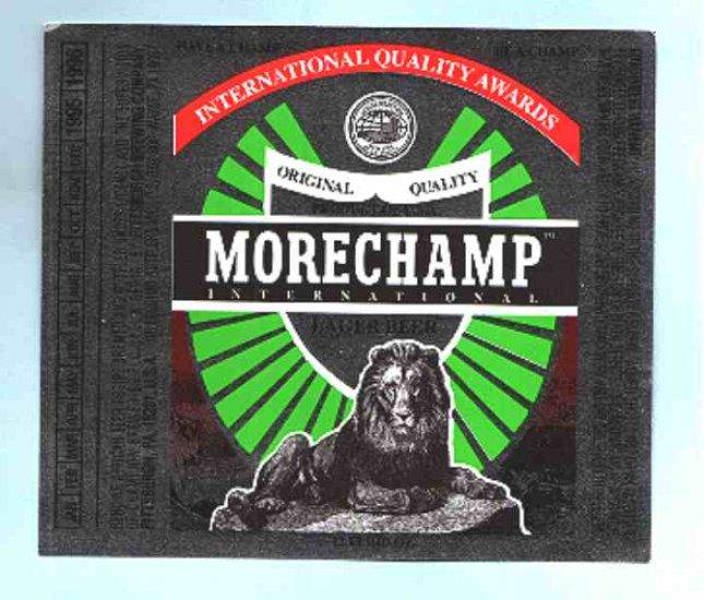 Morechamp Lager Beer Label 12oz.