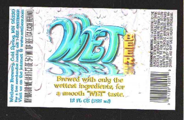 Wet Beer Label 12oz.