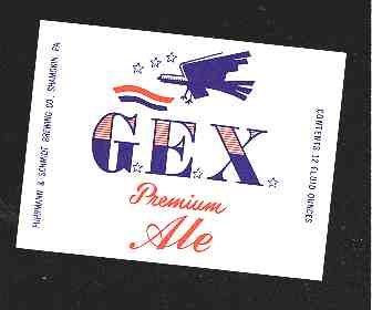 G.E.X. Premium Ale Label 12oz.