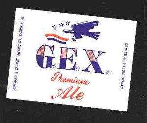 G.E.X. Premium Ale Label 12oz.
