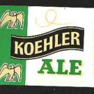 Koehler  Ale Label 16oz.