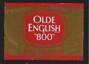 "Olde English ""800"" Malt Liquor Label 32oz"