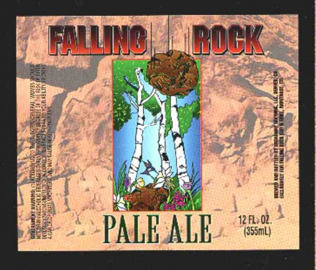 Falling Rock Pale Ale Label 12oz