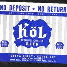 Kol Premium Beer Label 32oz.