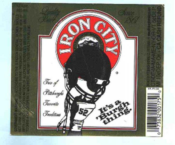 IRON CITY Beer Label 12oz