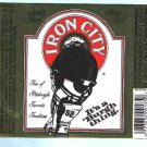 IRON CITY Beer Label 12oz