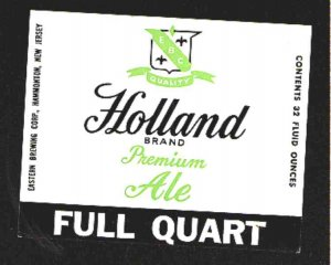 HOLLAND Brand Premium Ale Label 32oz.