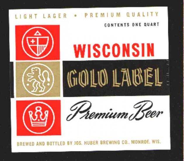 WISCONSIN GOLD LABEL Premium Beer 32oz.