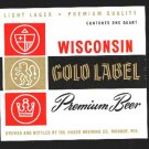 WISCONSIN GOLD LABEL Premium Beer 32oz.