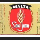 MALTA SAN JUAN Label 12oz