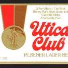 UTICA CLUB Beer Label12oz.
