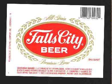 FALLS CITY Beer Label 32oz.
