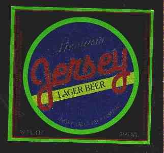 JERSEY Lager Beer Label12oz.