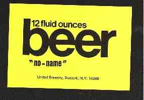 "BEER ""No-Name"" Beer Label 12oz."
