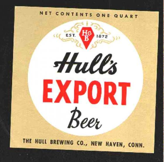 HULL'S Export Beer label 7oz.