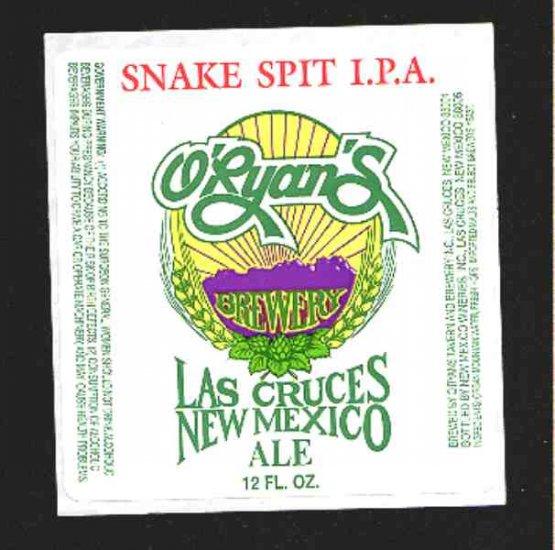SNAKE PIT   I.P.A. Beer Label 12oz