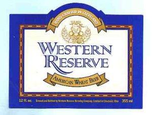 WESTERN RESERVE American Wheat Beer Label 12oz.