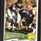 1975 Topps FootBall FRAN TARKENTON CD#400 EX/MT