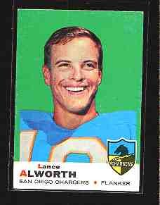 1969 Topps F.B LANCE ALWORTH  CD#69 EX Condition
