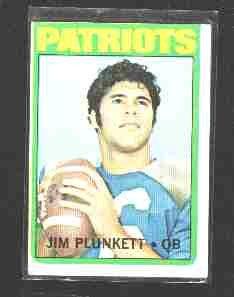 1972 Topps F.b. JIM PLUNKETT Rookie Card #65  VG-EX