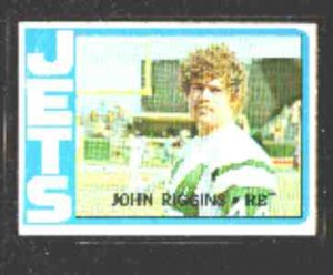 1972 Topps F.B. JOHN RIGGINS Rookie Card #13 EX-MT