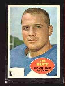 1960 Topps F.B. SAM HUFF CD#80 VG-EX