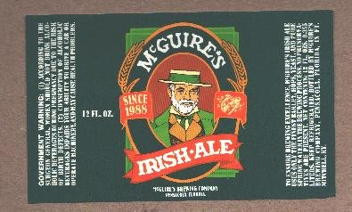 McGUIRE'S Irish Ale  Label / 12oz.