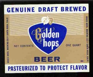 GOLDEN HOPS Draft Beer Label / 32oz.
