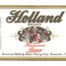 HOLLAND Premium Beer Label /7oz.