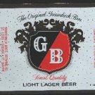 G/B Light Lager Beer Label  / 12oz.