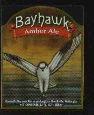 BAYHAWK Amber Ale Label / 12oz.