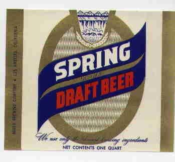 SPRING Draft Beer Label / 32oz.