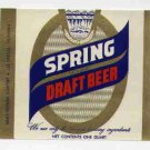 SPRING Draft Beer Label / 32oz.