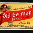 OLD GERMAN Ale Label IRTP /12oz.