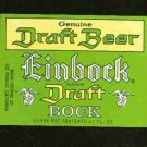 EINBOCK Draft Bock beer Label / 11oz