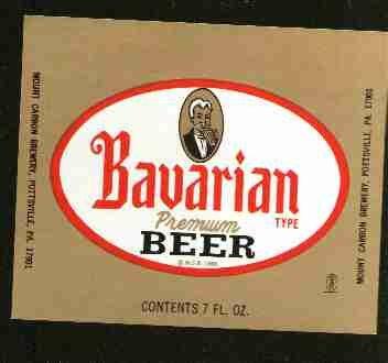 BAVARIAN Premium Beer Label /7oz.